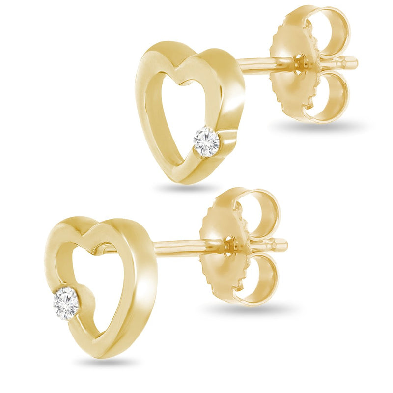 Golden Heart Studs