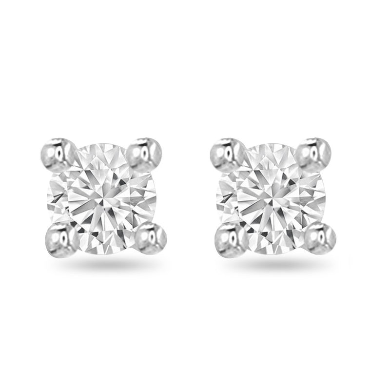 White Medium Diamond Studs