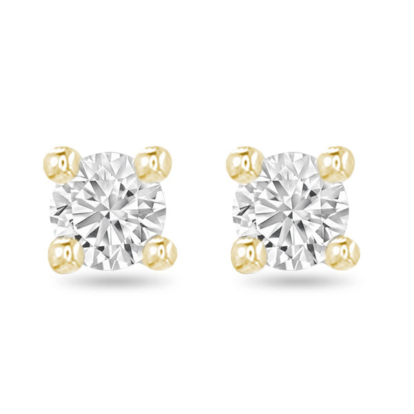 Yellow Medium Diamond Studs