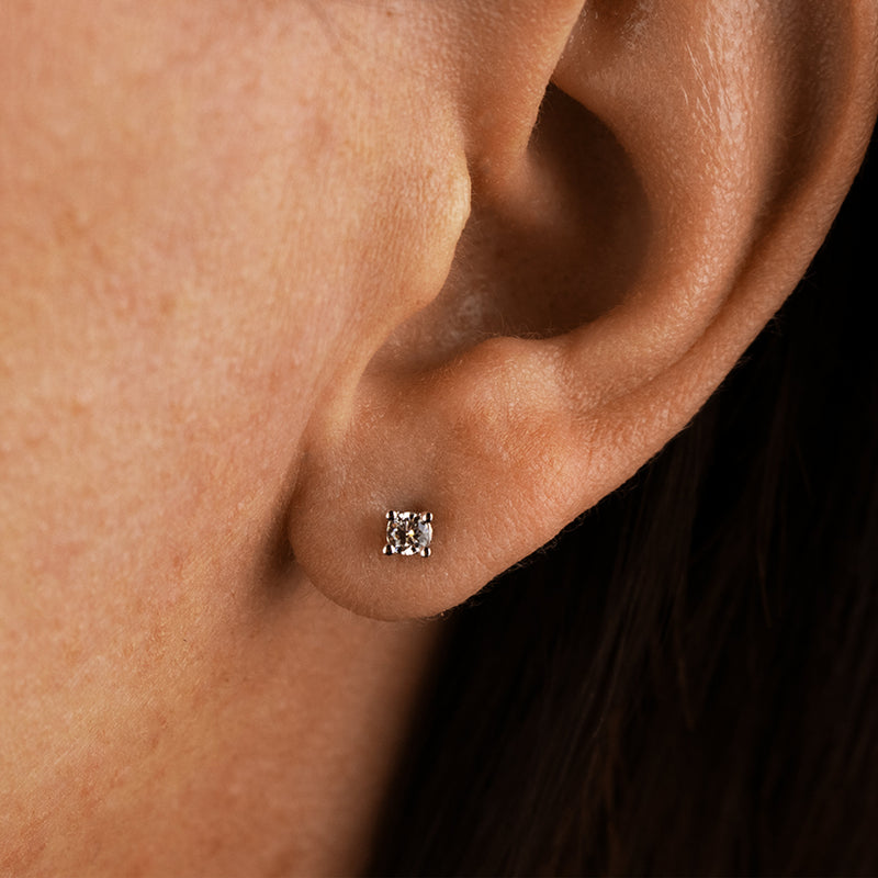 White Large Diamond Studs