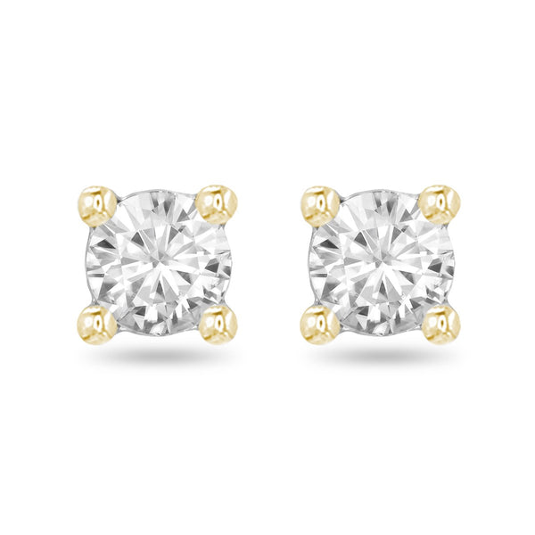 Yellow Large Diamond Studs