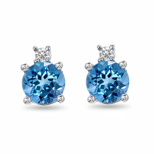 Topaz Crown Studs
