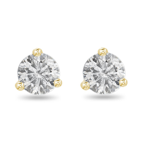 Yellow Small Diamond Studs