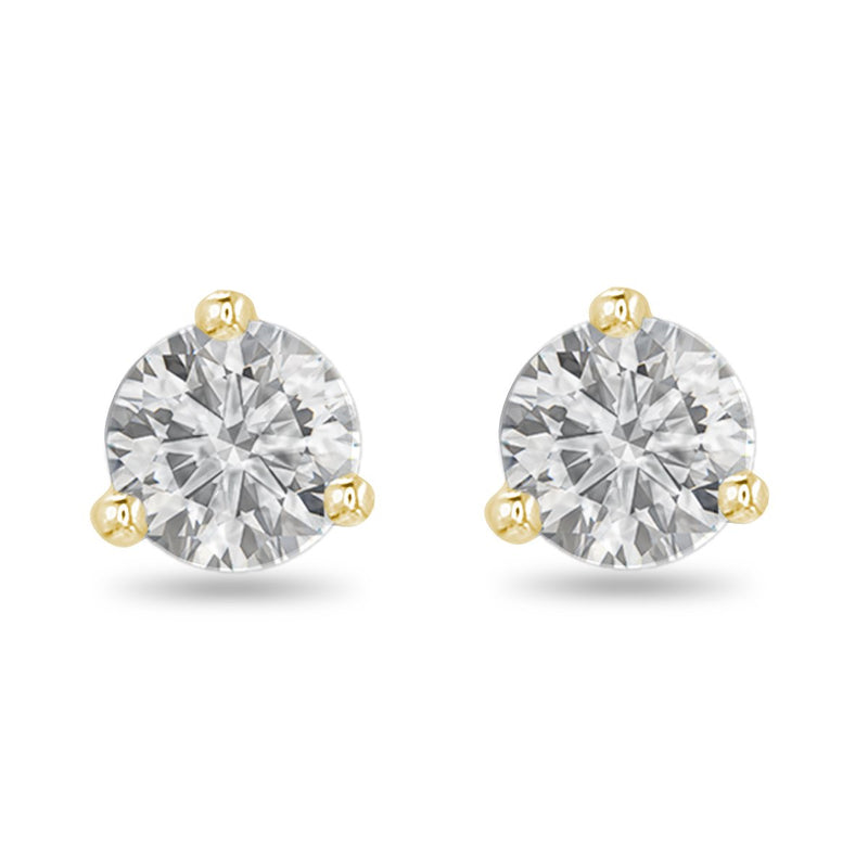 Sparkling Yellow Diamond Studs