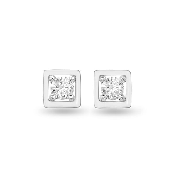 Boxy Diamond Studs