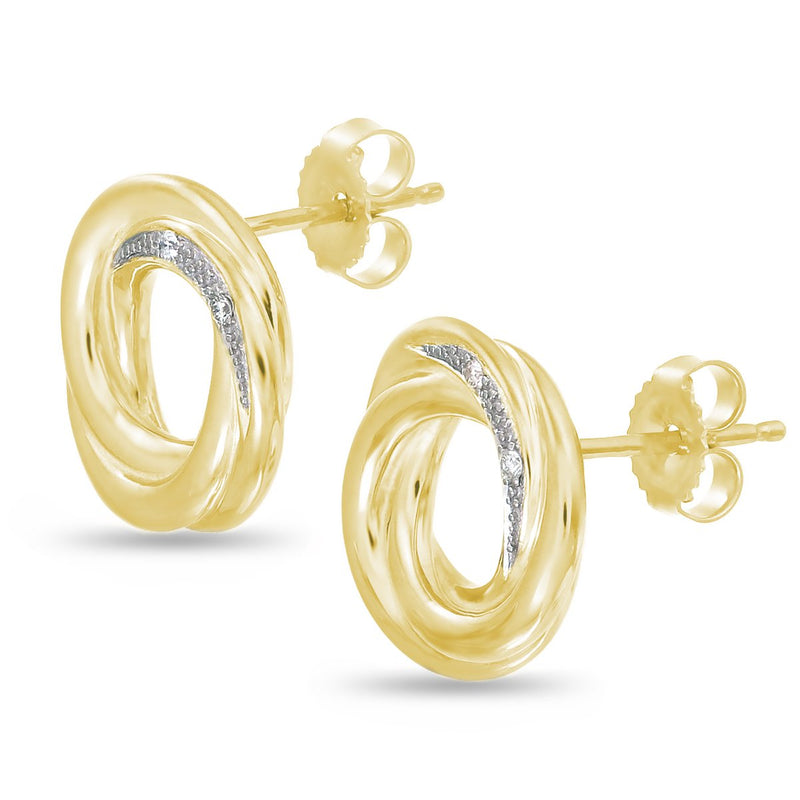 Yellow Infinite Circle Studs