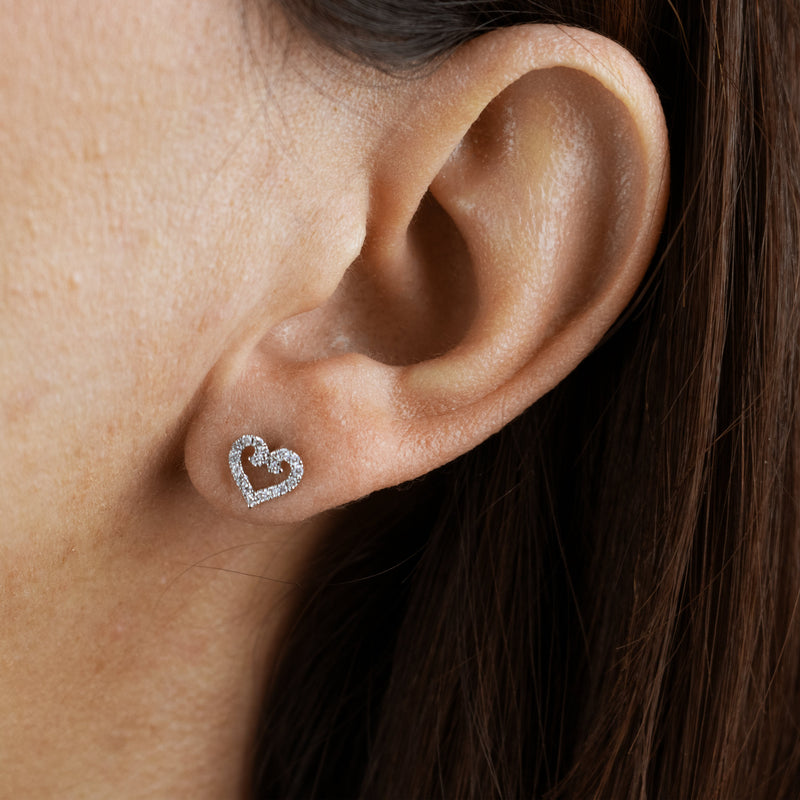 Rosy Whimsy Heart Studs