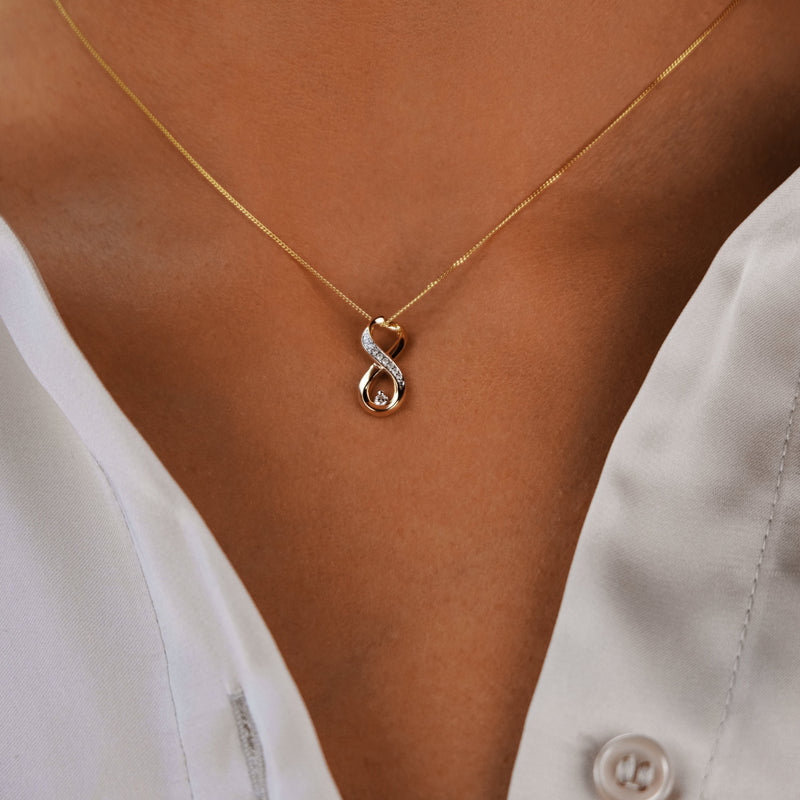 Vertical Infinity Necklace