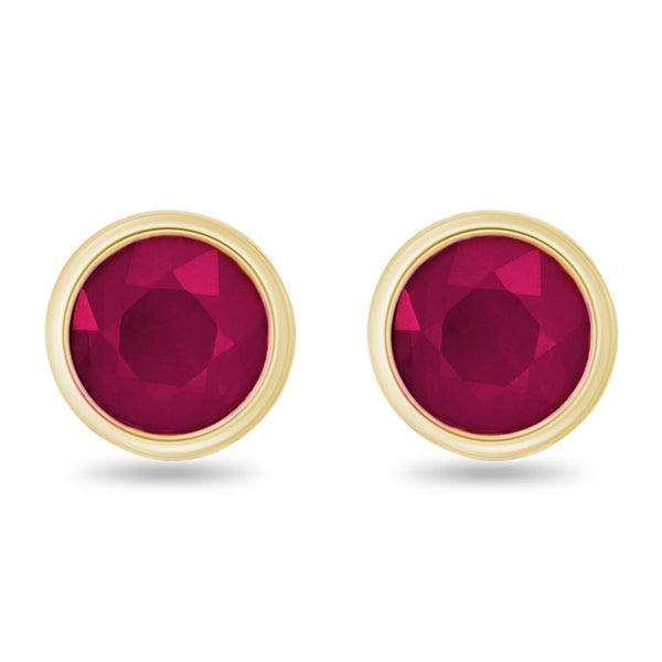 Ruby Button Studs
