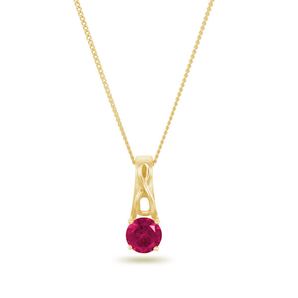 Ruby Infinity Necklace