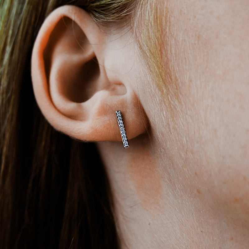 Vertical Diamond Studs