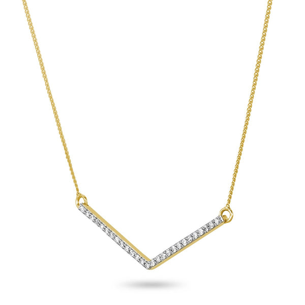 Diamond 'V' Necklace