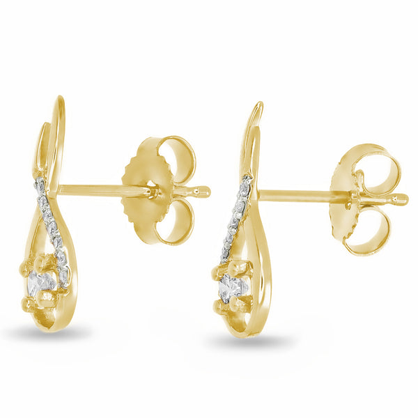 Entwined Golden Studs