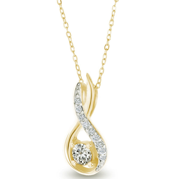Entwined Golden Necklace