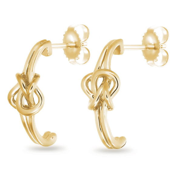 Golden Knot Studs