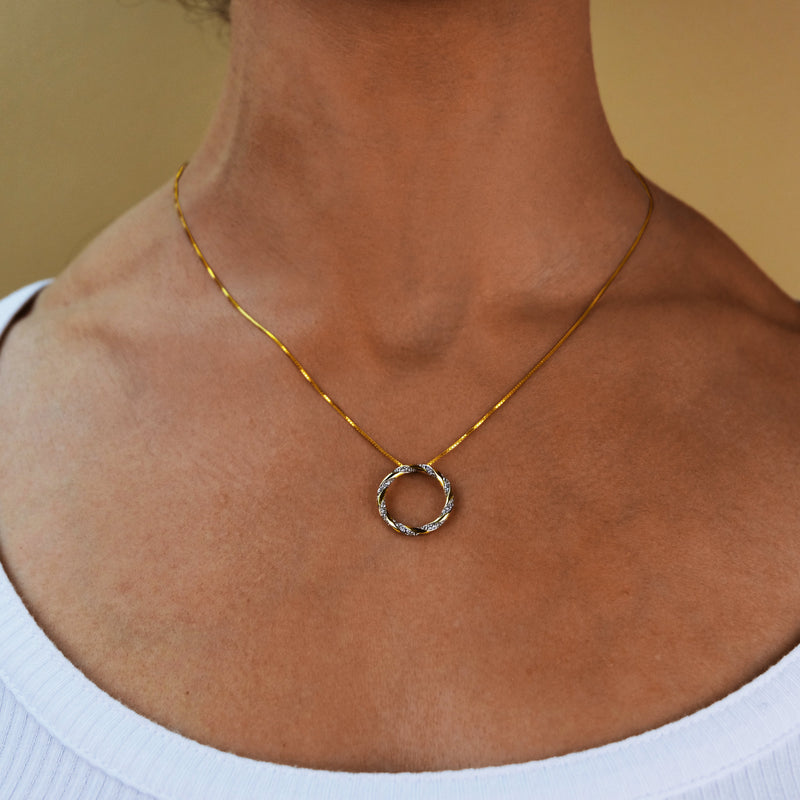 Entwined Diamond Necklace