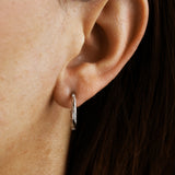 Silver Entwined Hoops