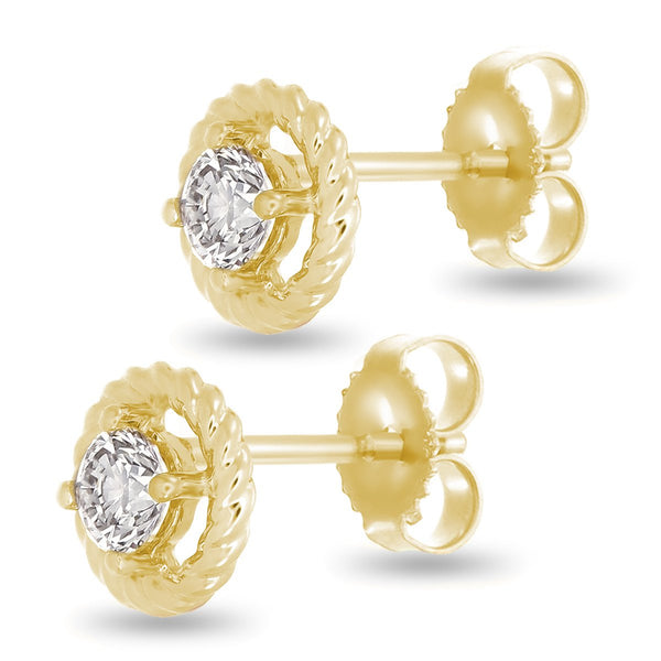 Golden Twist Studs