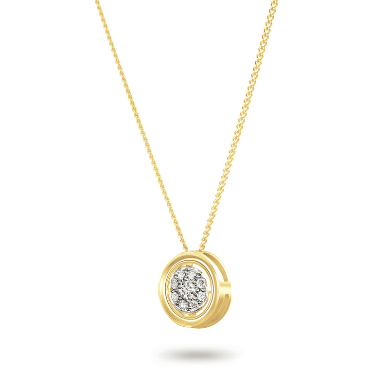 Yellow Gold Wheel Necklace