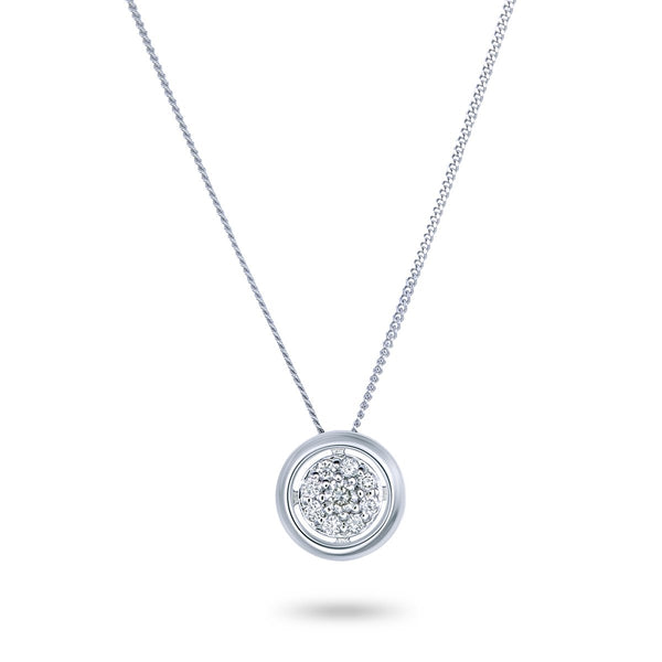 White Gold Wheel Necklace