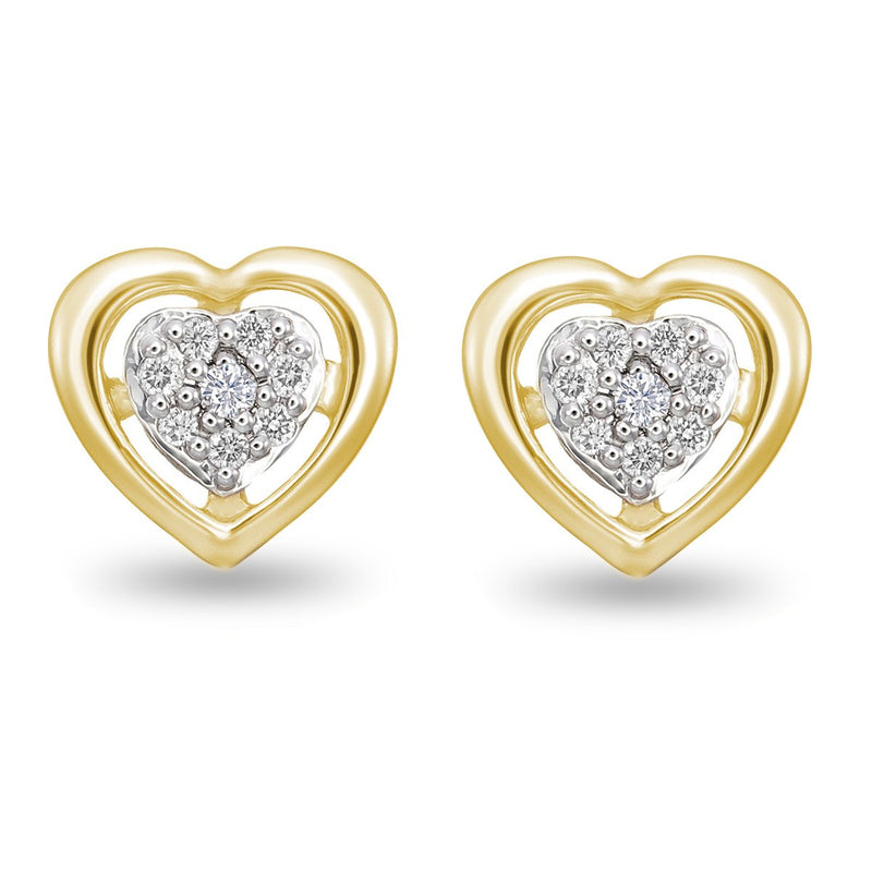 Yellow Heart Diamond Studs