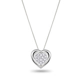 White Heart Diamond Necklace