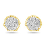 Golden Diamond Studs