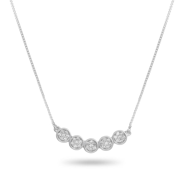 Diamond Banner White Necklace