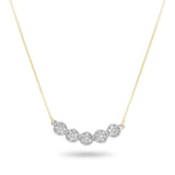 Diamond Banner Yellow Necklace