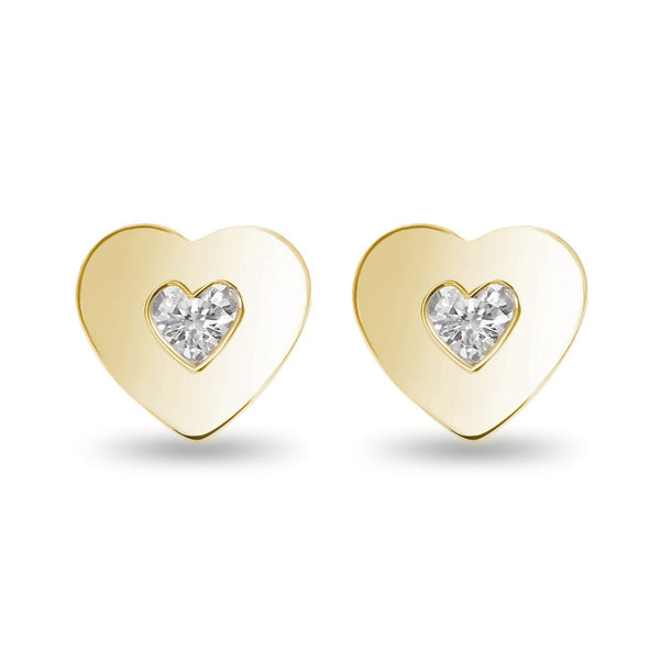 Full Yellow Heart Studs