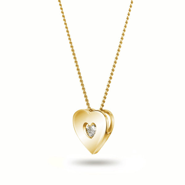 Full Yellow Heart Necklace