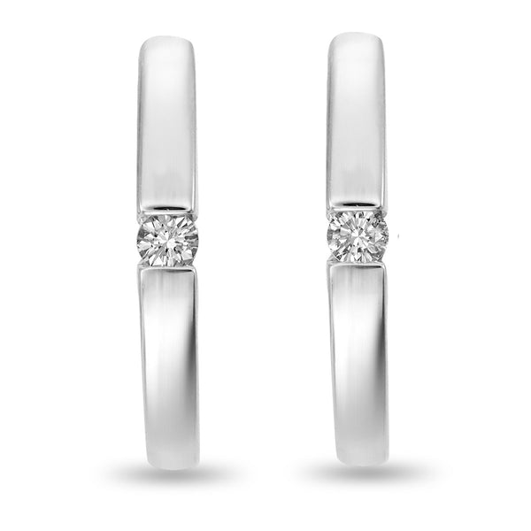 Single Diamond Hoops