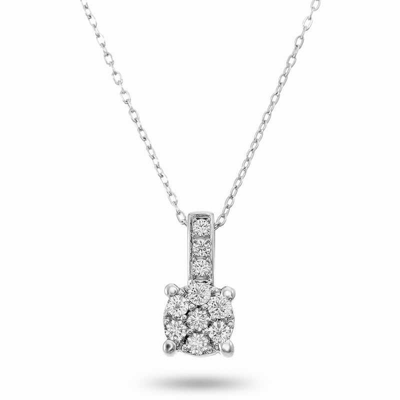 Stacked Diamond Cluster Necklace