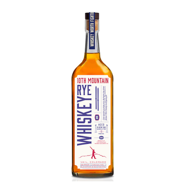 10th Mountain Rye Whiskey - Available at Wooden Cork
