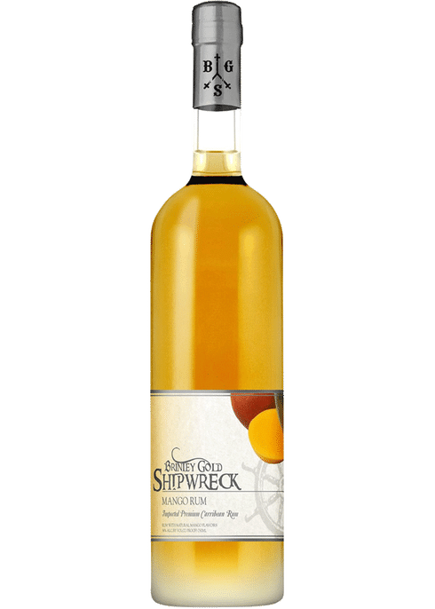 Brinley Gold Shipwreck Mango Rum - Available at Wooden Cork