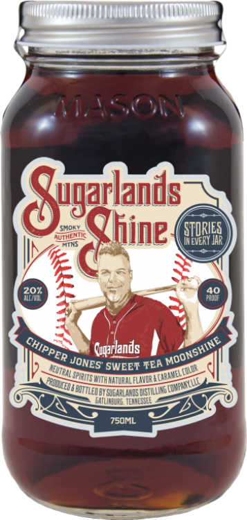 Sugarlands Shine Chipper Jones' Sweet Tea Moonshine - Available at Wooden Cork