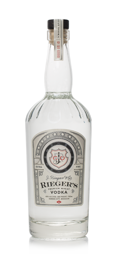 Rieger's Premium Wheat Vodka - Available at Wooden Cork