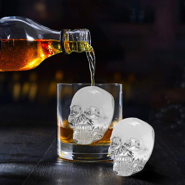 Skull Ice Molds for Whiskey - Available at Wooden Cork