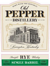 Old Pepper Distillery Single Barrel Straight Rye Whiskey - Available at Wooden Cork