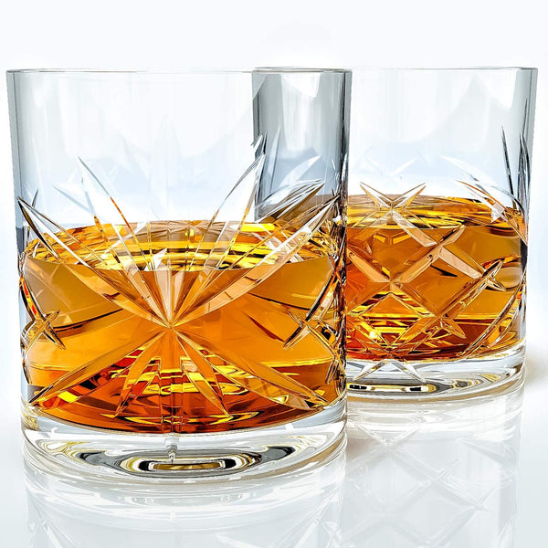 Whiskey Glasses Ornate Set - Available at Wooden Cork