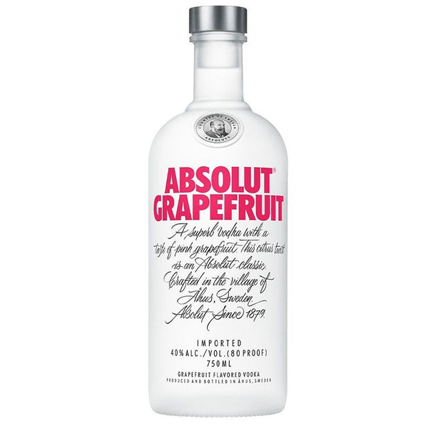 Absolut Grapefruit Vodka - Available at Wooden Cork