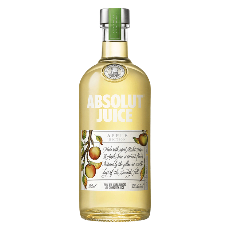 Absolut Vodka Apple Juice - Available at Wooden Cork