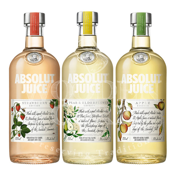 Absolut Pear & Elderflower & Strawberry & Apple Juice Edition Bundle - Available at Wooden Cork
