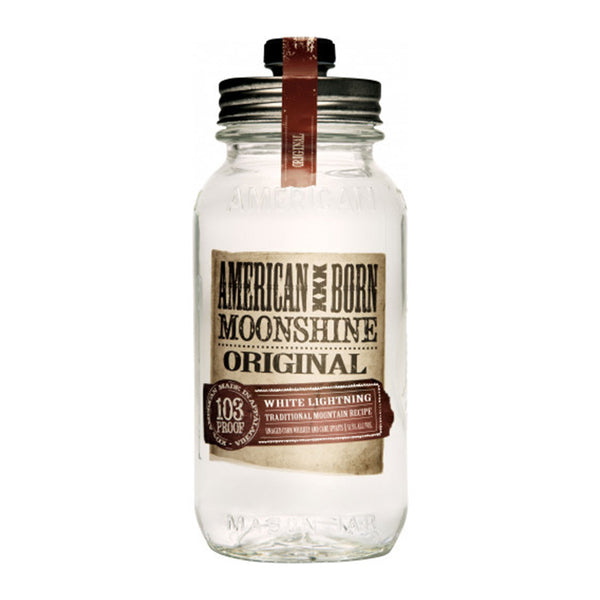 American Born Original White Lightning Moonshine - Available at Wooden Cork