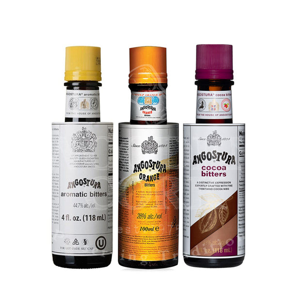 Angostura Aromatic, Orange & Cocoa Bitters Bundle - Available at Wooden Cork
