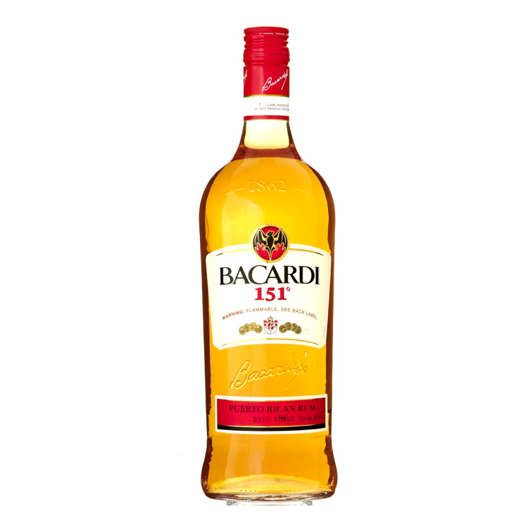 Bacardi 151 Rum - Available at Wooden Cork