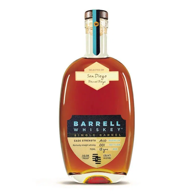 Barrell Craft Spirits 18 Year Old 'San Diego Barrel Boys' Single Barrel Select - Available at Wooden Cork