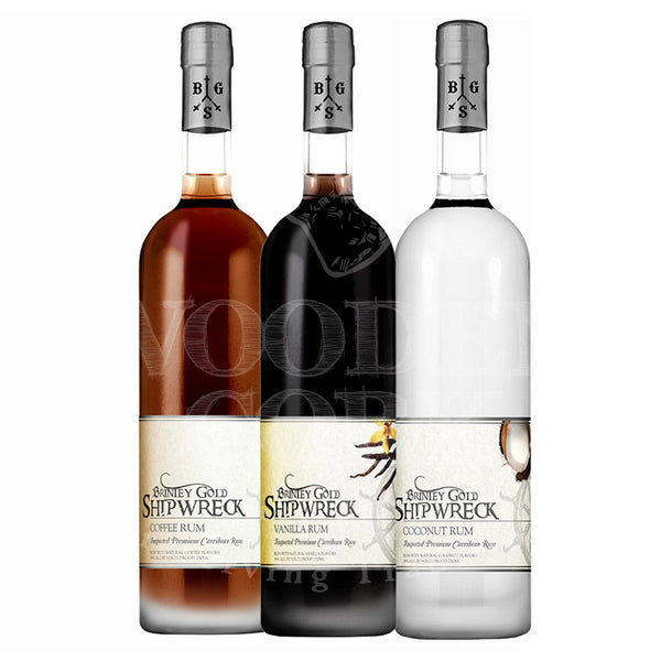 Brinley Gold Shipwreck Vanilla, Coffee & Coconut Rum Bundle - Available at Wooden Cork