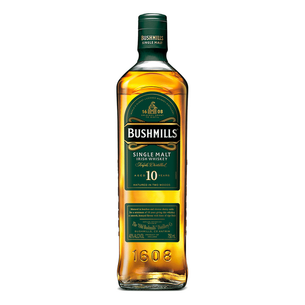 Bushmills 10 Year Single Malt Irish Whiskey - Available at Wooden Cork