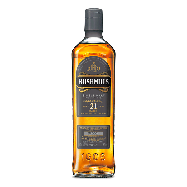 Bushmills 21 Year Single Malt Irish Whiskey - Available at Wooden Cork